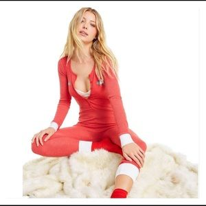 WILDFOX Holiday Fox cozy thermal Onesie Jumpsuit S